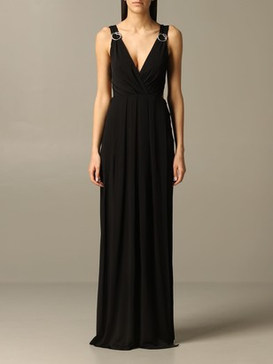 Just Cavalli Long Dress With Metal Rings