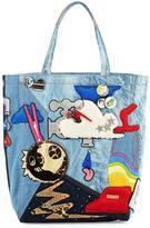 Marc Jacobs Denim Patches Tote Bag, Blue