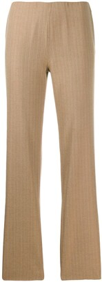 Romeo Gigli Pre-Owned 2000's Pinstriped Straight Trousers