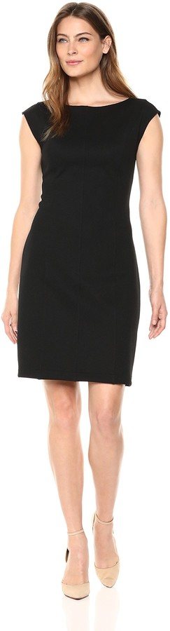 Lark & Ro Women's Cap Sleeve Dense Knit Dress