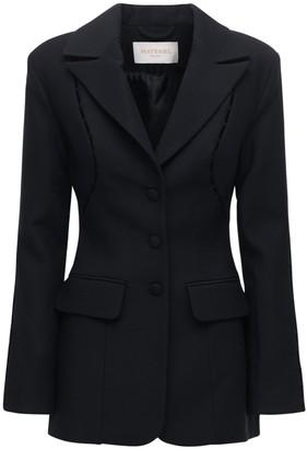 MATÉRIEL Wool Blend Blazer W/ Front Cutouts