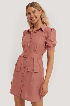 Trendyol Buttoned Belt Mini Dress