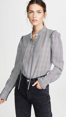 Jason Wu Plaid Chiffon Blouse