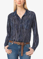 Michael Kors Printed Button-Down Blouse