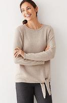 J. Jill Pure Jill Side-Tie Pullover Sweater