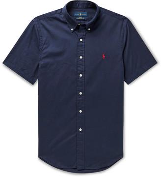 Polo Ralph Lauren Slim-Fit Button-Down Collar Garment-Dyed Cotton-Twill Shirt