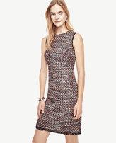 Ann Taylor Sequin Tweed Sheath Dress