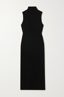 Leset Lori Ribbed Stretch-knit Midi Dress
