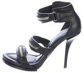 Alexander Wang Zipper-Accented Leather Sandals
