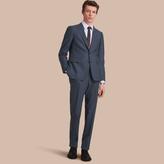 Burberry Slim Fit Wool Flannel Suit , Size: 44r, Blue
