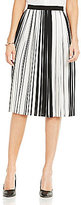 Vince Camuto Linear Accordian Stripe Pleated Skirt