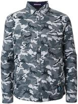 GUILD PRIME camouflage padded shirt jacket