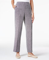 Alfred Dunner Herringbone Pull-On Pants