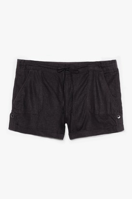 Nasty Gal Womens Truly Elastic for You Mid-Rise Shorts - Black