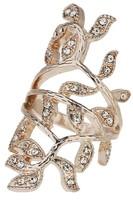 Apricot Rose Gold Embellished Vine Ring