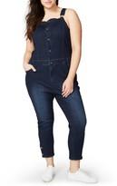 Rachel Roy Plus Size Women's Crop Skinny Overalls
