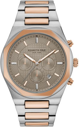 Kenneth Cole New York Men's Stainless Steel Beige Dial Watch