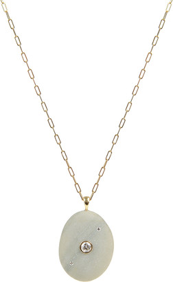 Cvc Stones 18k Gold Oval Optimist Necklace - One of a Kind, 30""
