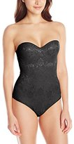 Heavenly Shapewear Women's Molded Cup All Over Lace Mesh Bodysuit
