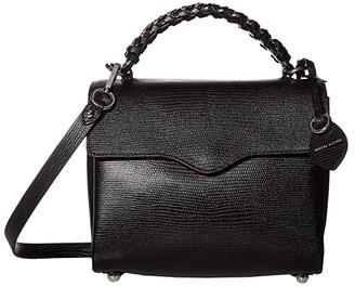 Rebecca Minkoff Chain Satchel (Black) Handbags