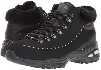 Skechers D'Lites - Gleeful (Black) Women's Cold Weather Boots