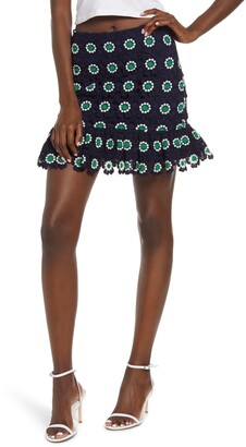 ENGLISH FACTORY Floral Lace Miniskirt