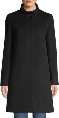 Cinzia Rocca Alpaca & Wool Blend A-Line Coat