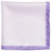 Robert Talbott Herringbone Silk Pocket Square