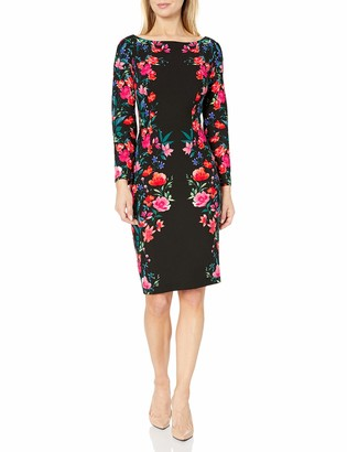 Brinker & Eliza Women's Floral Midi-Length Sheath Dress