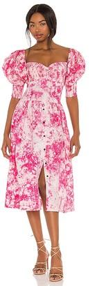 S/W/F SWF Puff Sleeve Sweet Heart Dress