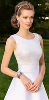 Camille La Vie Mikado Ball Gown Sequin Bodice Wedding Dress