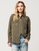 Free People Off Campus Buttondown Womens Shirt