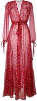 Au Jour Le Jour sheer dots print long dress
