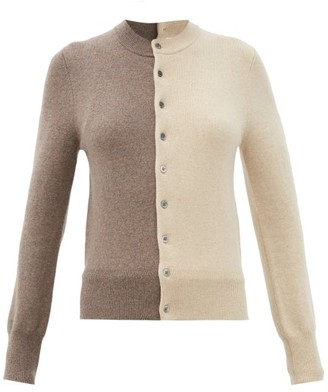 Extreme Cashmere - Little Game Bi-colour Stretch-cashmere Cardigan - Brown White