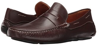 Massimo Matteo Florencia Penny Driver (Brown) Men's Slip on Shoes