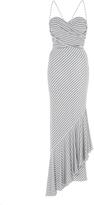 Maria Lucia Hohan Sarai Lurex Jersey Asymmetrical Dress