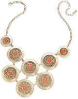 Thalia Sodi Gold-Tone Multi-Disc Stone and Pavé Statement Necklace, Only at Macy's