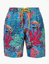 M&S Collection Quick Dry Turtle Print Swim Shorts