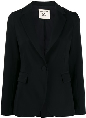 Semi-Couture Fitted Single-Breasted Blazer