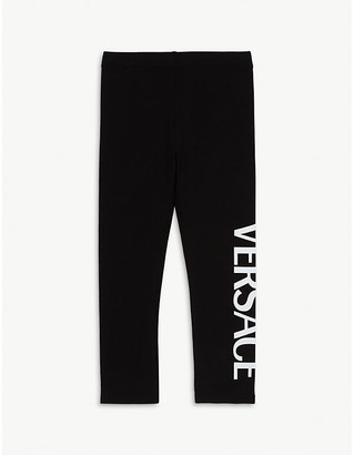 Versace Logo cotton-blend leggings 4-14 years