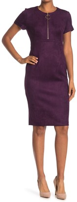 Calvin Klein O-Ring Zip Sheath Dress