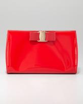 Salvatore Ferragamo Miss Vara Patent Clutch Bag, Red