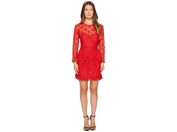 The Kooples Lace Dress with Floral Details Women's Dress