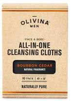 Olivina 10-Pack Bourbon Cedar Faceand Body All-in-One Cleansing Cloths