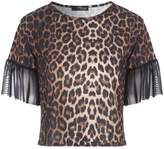 Jane Norman Mesh Sleeve Top