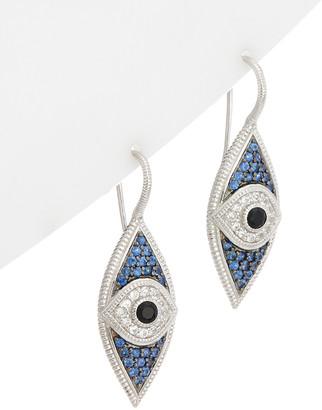 Judith Ripka Silver 1.59 Ct. Tw. Gemstone Evil Eye Earrings