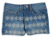 Vigoss Girls Floral Embroidered Jean Shorts