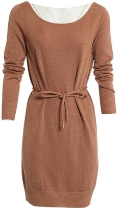 Dolce & Gabbana Gold Wool Dresses