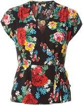 Dorothy Perkins Black Floral Wrap Top