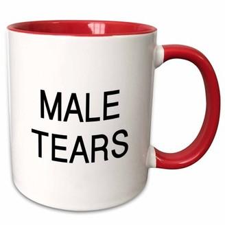 3drose 3dRose MALE TEARS - Two Tone Red Mug, 11-ounce